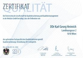 ÖQMed-Zertifikat Qualitätssicherungs-Verordnung 2012