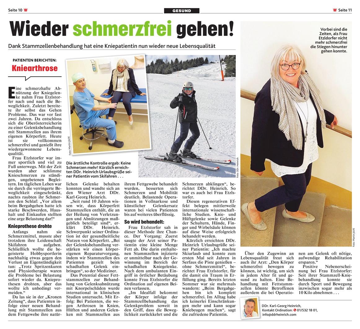Krone: Kniearthrose: Wieder schmerzfrei gehen!