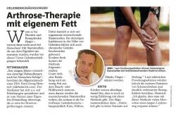 Wiener Bezirksblatt: Arthrose-Therapie mit eigenem Fett