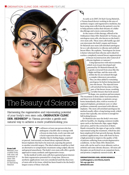 Singapore Tatler: The Beauty of Science